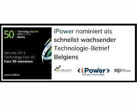 iPower nominiert als schnellst wachsender Technologie-Betrieb Belgiens