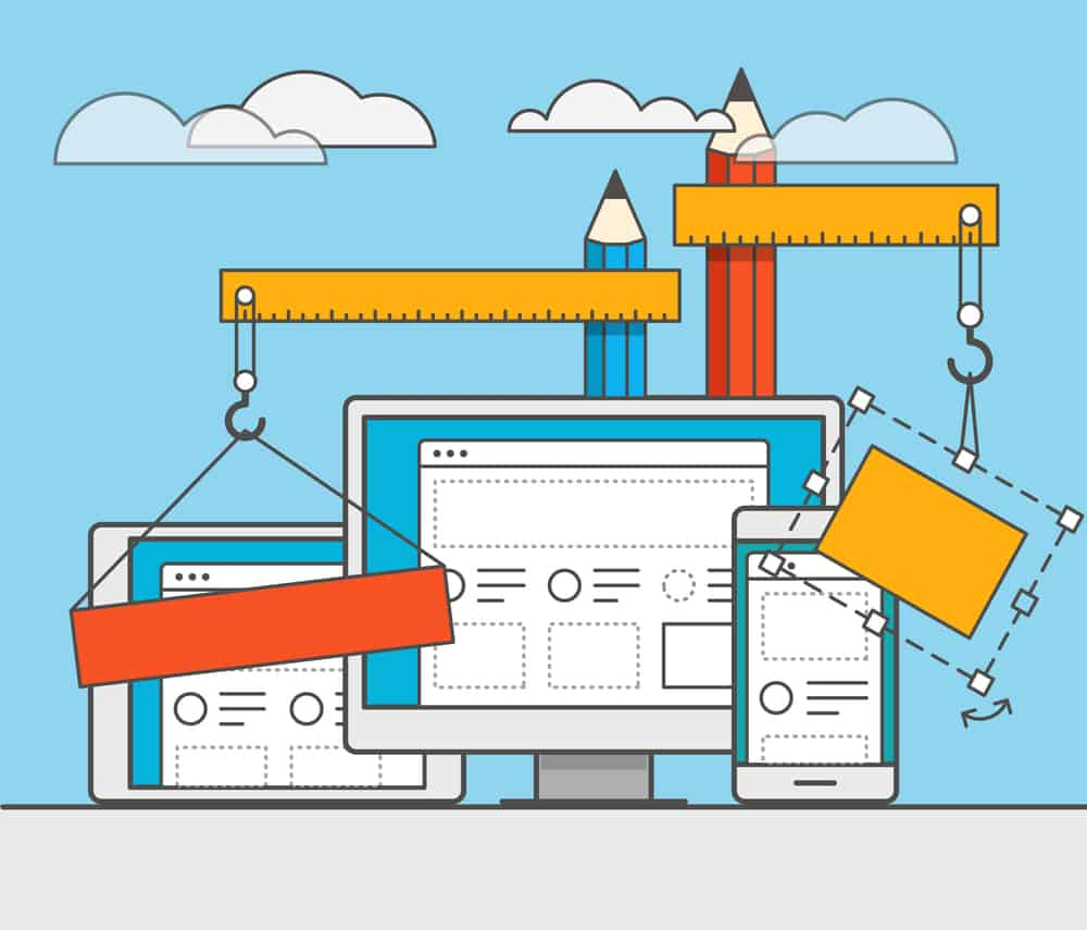 The layout of your website: key items in key places