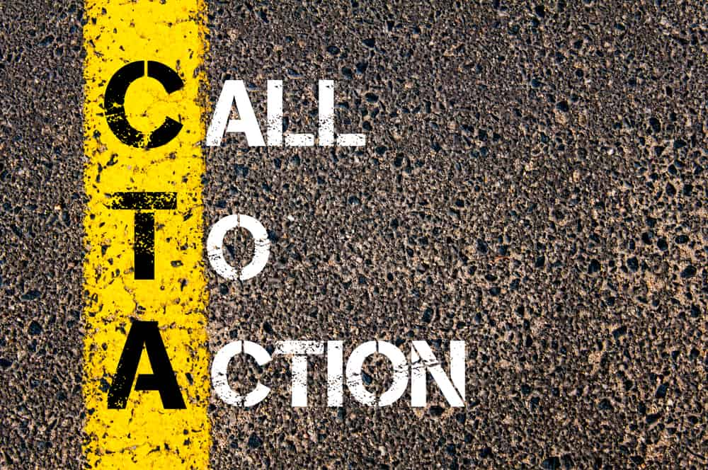 The content of your website: calls-to-action