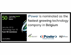 Again iPower has been nominated as fastest growing technology company in Belgium.